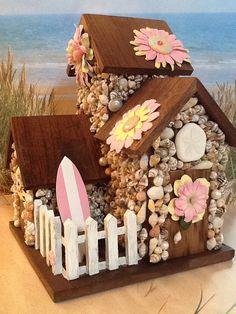 Seashell Coastal Cottage Beach Hut Pink & by SeashellSugar