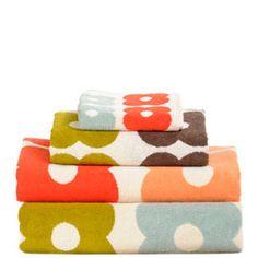 orla kiely bath towels.