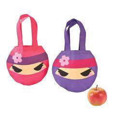 Ninja Girl Mini Tote Bags