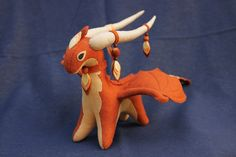 Soft toy dragon fantasy plush animal textile by UniversesSwirls, $55.00