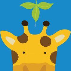 Peek-A-Boo Giraffe by Yuko Lau Art Print | Pop Motif