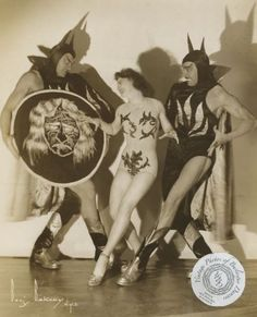 Satanic strippers: Vintage photos of burlesque performers dancing with the devil (For more info and photos, visit Dangerous Minds Dance Numbers, Marcus Black, Female Dancers, Vintage Burlesque, Gypsy Rose, Partner Dance, Dangerous Minds, Burlesque Costumes, Vintage Halloween