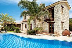 Stavroulla in Argaka, Cyprus - Gallery thumbnail Private Pool, Cyprus, Villa, Mansions, House Styles, Gallery, Outdoor Decor, Home Decor, Decoration Home