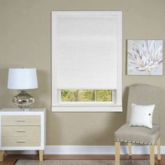 Cordless Honeycomb Cellular Window Shade Available In Multiple Colors And Sizes, White