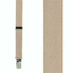 5216ad5dc30 Tan Thin Suspenders - Matte 3 4 Inch Wide Suspender Store