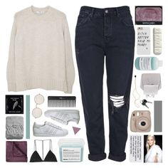 """""""≁ negative capability"""" by half-dust ❤ liked on Polyvore featuring Topshop, MANGO, Davines, NARS Cosmetics, Prada, TokyoMilk, Fujifilm, Dion Lee, JCPenney Home and H&M"""