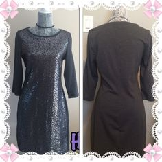 NIGHT OUT HP Grey sequins Old Navy Dress 2x HP Old Navy grey sequins dress. 3/4 length sleeves. NWOT Old Navy Dresses