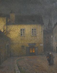 JAKUB SCHIKANEDER A STREET CORNER IN PRAGUE