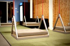 Box, headquartered in Palo Alto, Calif., has a playful take on seating arrangements as they added swings to their office