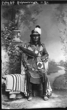 Crowfoot - Blackfoot (Siksika) - circa 1885 | Crowfoot was a warrior who fought in as many as 19 battles and sustained many injuries. Despite this, he tried to obtain peace instead of tribal warfare. When the Canadian Pacific Railway sought to build their mainline through Blackfoot territory, negotiations with Albert Lacombe convinced Crowfoot that it should be allowed.   Wikipedia