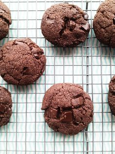 Best Ever Double Chocolate Chunk Cookies. (Gluten/Grain/Egg/Starch Free with direction to make sugar free.)