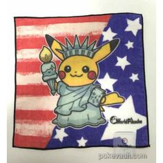 Pokemon Center 2016 World Pikachu Campaign #1 Mini Hand Towel (USA)