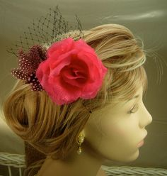 Hair clip Hair accessory hair fascinator by SallysJewelsandgems, $19.99
