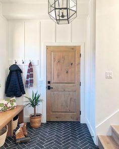 Vestibule, Home Renovation, Home Remodeling, Modern Farmhouse, Modern Rustic, Entry Way Design, Entry Way Tile, Secret House, Hill Interiors