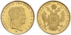 Ferdinand I Lombardy–Venetia, Sovrano, Milan. Holy Roman Empire, Gold And Silver Coins, Ferdinand, Lorraine, Austria, Milan, House, Wealth, Crests