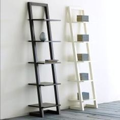 @Overstock - Stay organized with this unique self-standing ladder designed shelf.  This piece features a beautiful white finish and ample amounts of storage.http://www.overstock.com/Home-Garden/White-5-tier-Ladder-Book-Shelf/5099948/product.html?CID=214117 $112.99