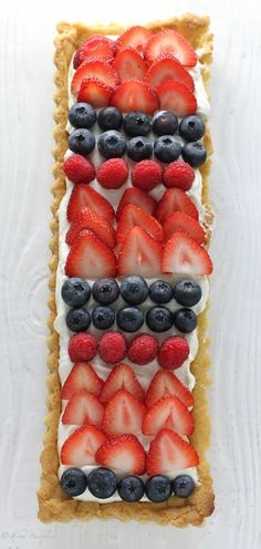 Mixed Berry Limoncello Tart - FoodBabbles.com
