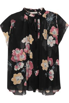 Ulla Johnson | Saadi floral-print silk-georgette blouse | NET-A-PORTER.COM