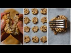 All of these cookie recipes have no flour, no eggs, and no added sugar! They're perfect for cookie lovers who want something healthier - yet still delicious . Egg Free Cookies, Oat Cookies, Coconut Cookies, Healthy Cookie Recipes, Healthy Cookies, Healthy Treats, Healthy Food, Vegan Recipes, Easy Beef Wellington