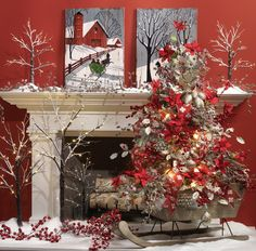 raz christmas 2014 | 2014 RAZ Aspen Sweater Christmas Decorating Ideas_089