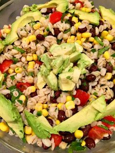 Here's an amazing side dish featuring our crazy ingredients this month: Barley & Salsa.Using my original Corn & Black Beansalsa recipe as a foundation, I madeadelicious barley salad that paired perfect with pork & chicken sliders.  This salad tastes so clean and fresh. Full of fresh foods, it's a perfect side dish recipe for any occasion. Vegetarian, vegan and healthy!