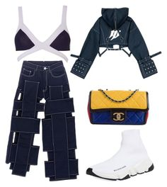 """""""Bandaged"""" by carliazzara ❤ liked on Polyvore featuring Yajun, Agent Provocateur, Chanel and Balenciaga"""