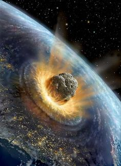 The asteroid that created the Chicxulub Crater in Mexico and is believed to have killed off the dinosaurs 65 million years ago (at least 10 km in diameter)