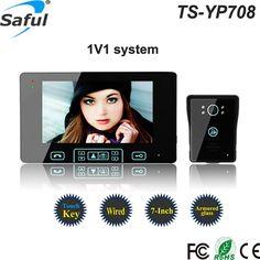 88.32$  Buy here - http://aliy7p.worldwells.pw/go.php?t=32750353286 - 7''color TFT LCD wired video door intercom Water oxidation-proof  video door phone with Handfree,Electric lock-control function 88.32$