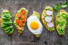 Open Faced Avocado Sandwiches