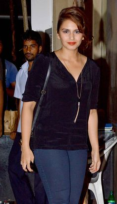 Huma Qureshi at Ekta Kapoor's bash.