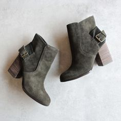 Sbicca - Lorenza khaki suede leather ankle booties