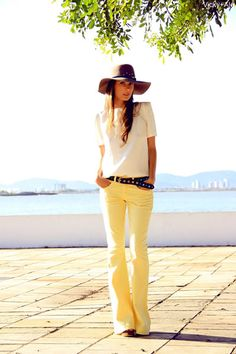 SUNNY GIRL goes Nomade  Daslu pants; Lilly Sarti shirt and hat; A-teen belt