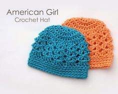 Lately, I have been having so much fun making my girls clothes for their dolls.  My latest project was these cute crochet hats.  They f...