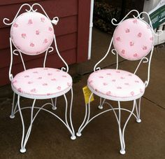 Bon Pair Of Vintage Ice Cream Parlor Chairs On Etsy, $150.00 Vintage Ice Cream,  Chair