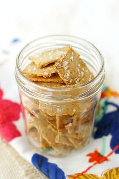 An easy recipe for gluten free and vegan crackers that uses oatmeal for a delicious flavor and crunch!