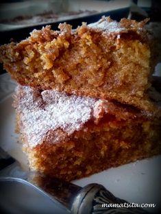 κέικ κολοκύθας Cookbook Recipes, Dessert Recipes, Cooking Recipes, Desserts, Greek Cake, Brownie Cake, Brownies, Pumpkin Dessert, Greek Recipes