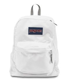 The JanSport Superbreak is ultralight for everyday use. The backpack is available in more than 30 different colors and prints, perfect for every style of self expression. This JanSport School Backp… Mochila Jansport, Jansport Superbreak Backpack, White Backpack, Backpack Bags, Messenger Bags, Duffle Bags, Travel Backpack, Cute Backpacks For School, Diner En Blanc