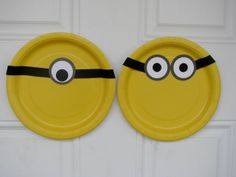 Minion Inspired Party Decorations and Plates by BKreativeDesigns, $15.00
