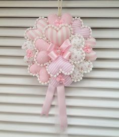 how to make deco mesh and flowers spring wreath Valentine Wreath, Valentine Crafts, Valentines, Hobbies And Crafts, Crafts To Make, Arts And Crafts, Heart Crafts, Baby Crafts, Sewing Crafts