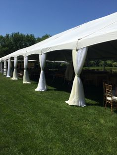 Great leg draping for this party tent! & Having thoughts about draping the legs of your tent? This is one ...