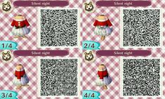 ACNL QR Code: Off-Shoulder Christmas Dress