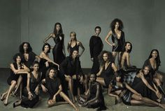 Women In Black: 30 years of Black supermodels shot by Annie Leibovitz for Vanity Fair ca.