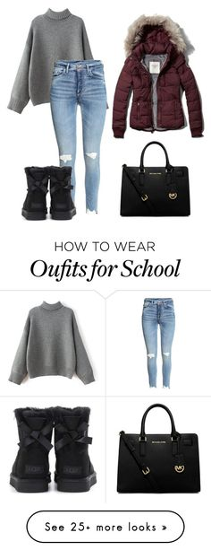"""""""ugg winter ootd school"""" by shopaholic02 on Polyvore featuring Abercrombie & Fitch, MICHAEL Michael Kors and UGG"""