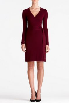 DVF + cashmere + dress. Now THIS makes winter bearable.