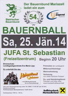 Termintipp: 54. Bauernball im Mariazellerland – 25. Jänner 2014