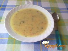 Recept za Krem čorbu od tikvica. Za spremanje čorbe neophodno je pripremiti tikvice, krompir, šargarepu, luk, maslac, začin, kiselu pavlaku i peršun. Cheeseburger Chowder, Soup, Chef Recipes, Cooking, Soup Appetizers, Soups, Chowder
