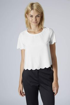Photo 2 of PETITE Scallop Frill Tee