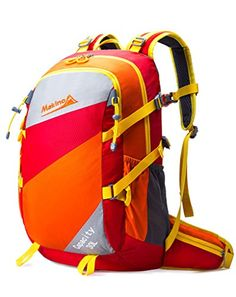Makino Waterproof Travel Backpack Outdoor Hiking Daypacks Shoulders Bag 30L  Red     Details can 3a6275c49d