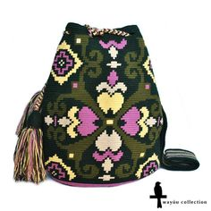 Patterns from the new wayúu collection ~ Monguí bag on www.siriri.co Free worldwide shipping #siriribags