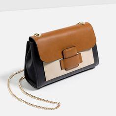 Zara Cross Body Bag With Front Pocket (145 BRL) ❤ liked on Polyvore featuring bags, handbags, shoulder bags, cross body, zara crossbody, crossbody purse, zara purse and zara shoulder bag